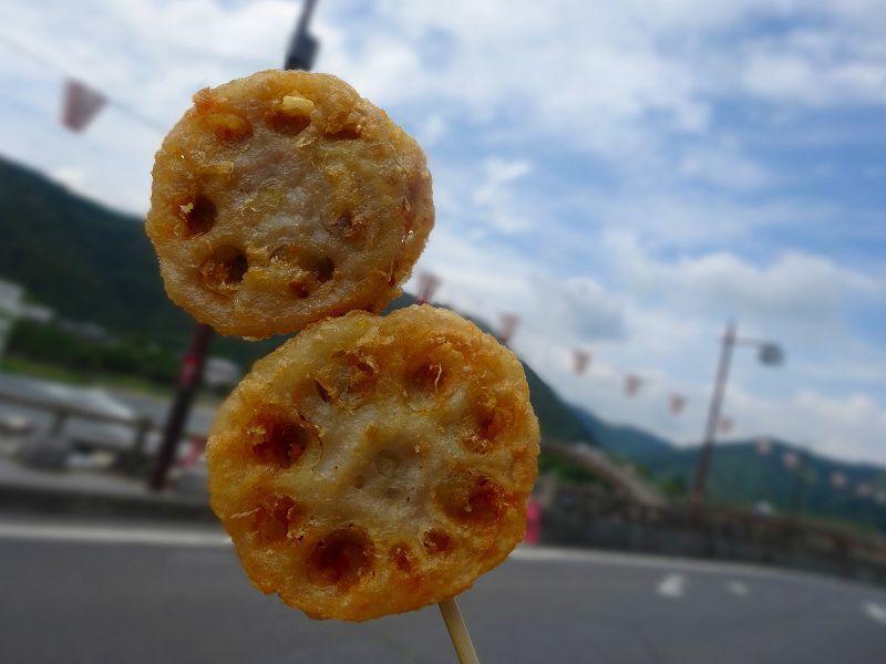 蓮根の天ぷら。