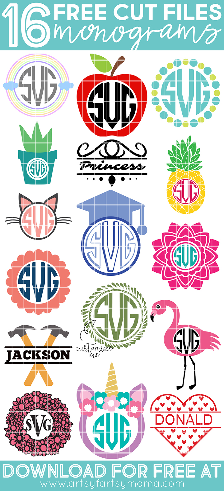 16 Free Monogram Cut Files