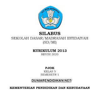 Silabus PJOK Kelas 5 SD/MI Semester 1 K13 Revisi 2021