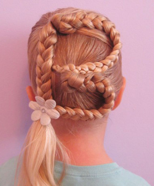 Hairstyles and Women Attire: Letter hair fun for little kid.