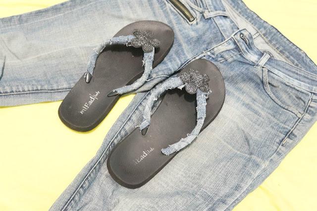 Διακόσμηση σαγιονάρας από παλιό τζιν παντελόνι