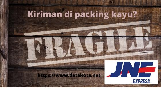 apakah jne menerima packing kayu