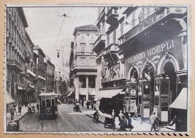 Antiche cartoline di Milano in cornice - collezionismo - annunci