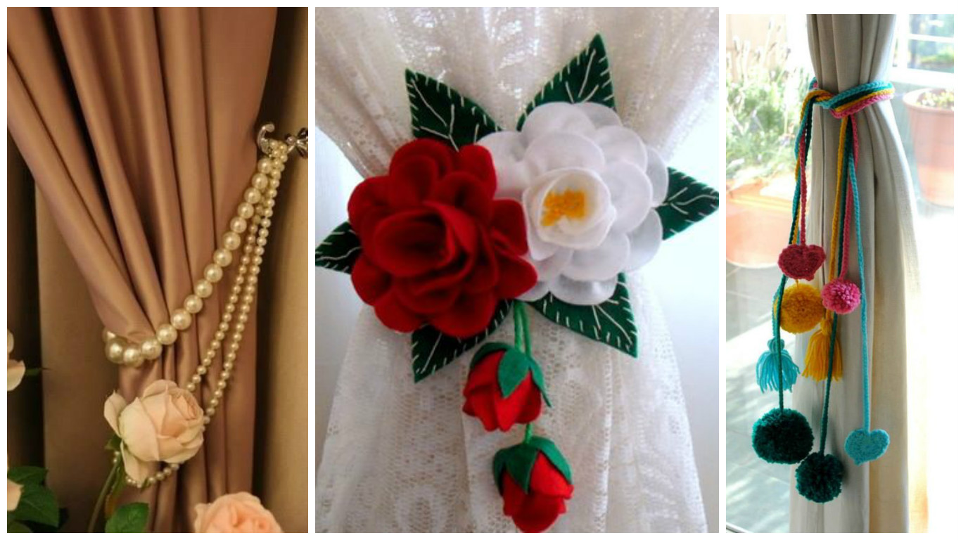 8 ideas para hacer sujeta cortinas decorativos para el for Ideas para cortinas