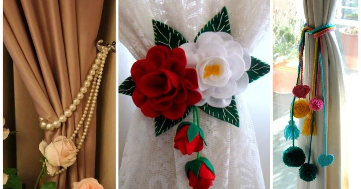 8 ideas para hacer sujeta cortinas decorativos para el - Manualidades y bricolaje para el hogar ...