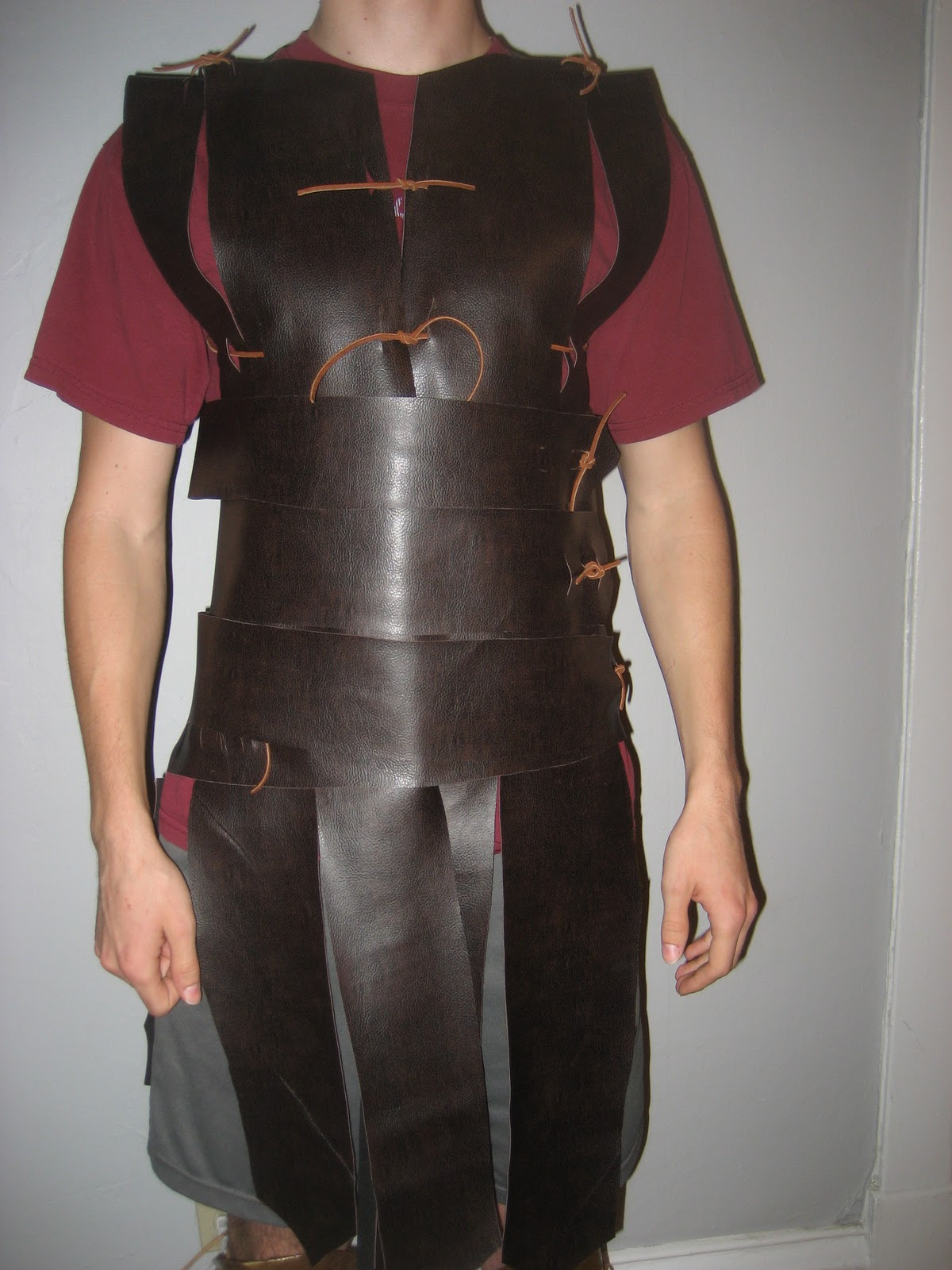 Chuck Does Art DIY Spartan Hoplite Costume How to make a faux-leather Linothorax inspired by Gladiator costume no sewing required! : leather gladiator costume  - Germanpascual.Com