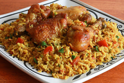 A delicious and authentic Chicken Machboos Chicken Machboos (Bahraini Spiced Chicken and Rice) recipe