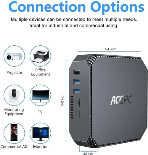 ACEPC AK2 8GB DDR3 Mini PC Windows 10 Pro