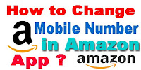 How to change Mobile number in Amazon App?