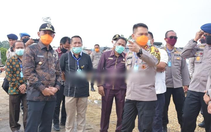 Kapolda Jambi Cek Langsung Posko Penanganan Covid-19 Di Kabupaten Tebo, Untuk Cegah Meluasnya Wabah Virus Corona