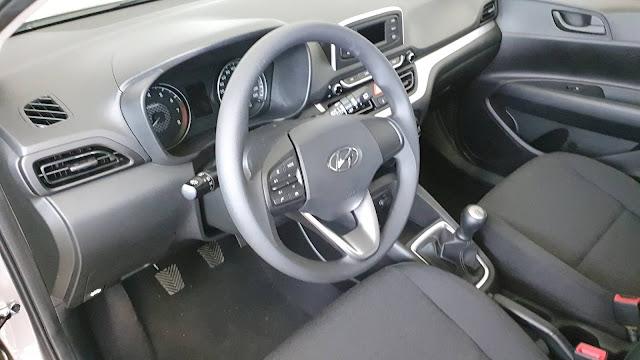 Novo Hyundai HB20 2020 Sense 1.0 - interior
