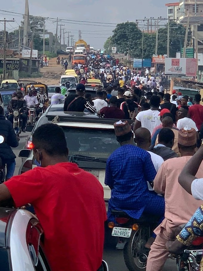 #ENDSARS; One Dead while Some Injured in a Peaceful Protest held at Ogbomosho today