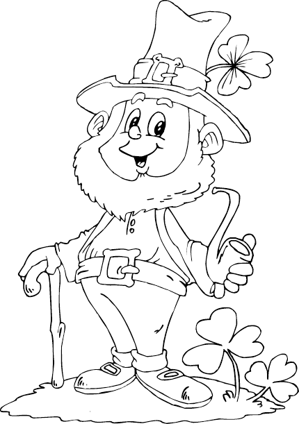 Leprechan free coloring pages for Leprechaun hat coloring page