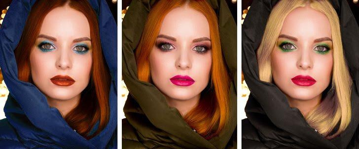 الماكياج والملابس يمكن أن تغير لون عينيك