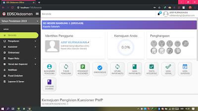 Tampilan Aplikasi EDS OFFLINE