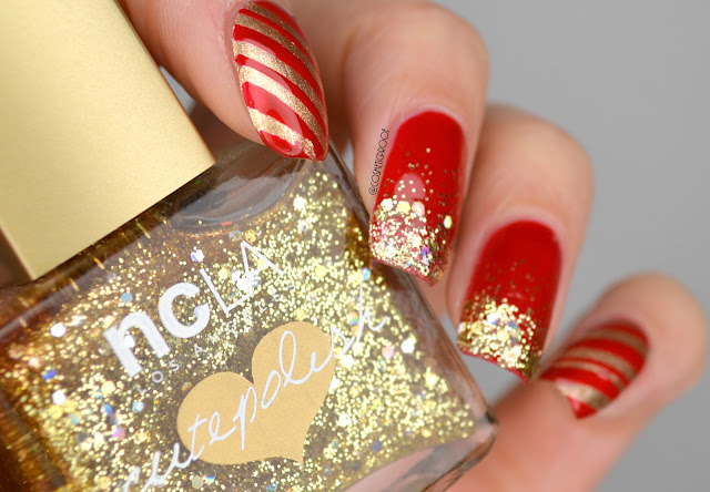 New Year's Nail Art with Glitter