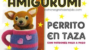 Amigurumi Perrito 🐶 en taza a crochet | Paso a paso