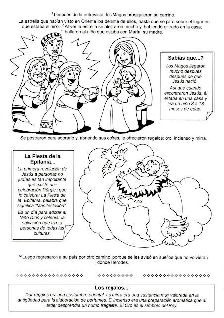 Parroquia La Inmaculada: Ficha para colorear sobre la Epifanía del ...
