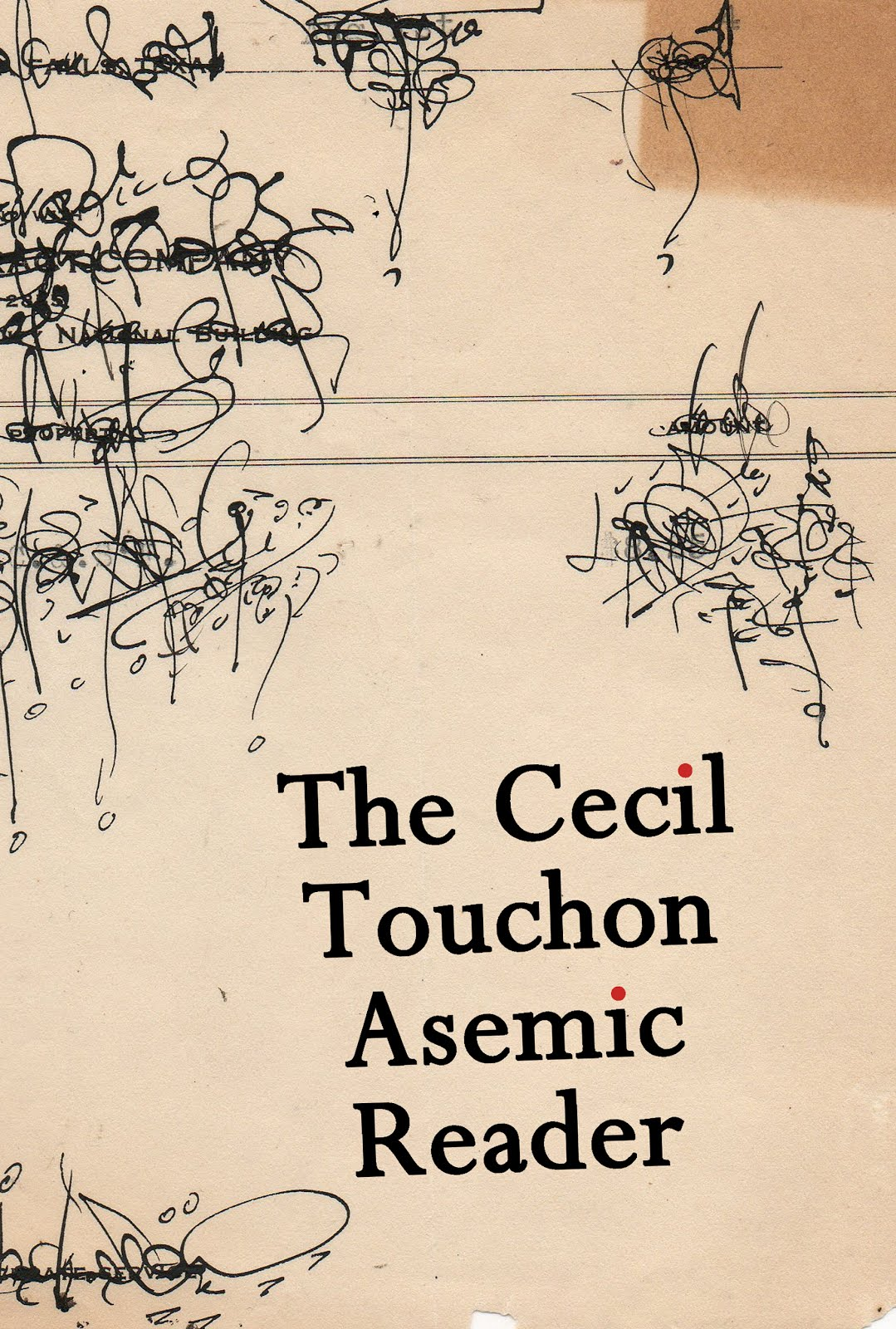 Available Now @ Amazon! The Cecil Touchon Asemic Reader