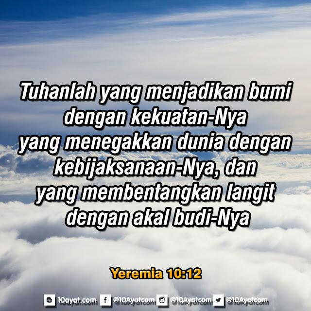 Yeremia 10:12