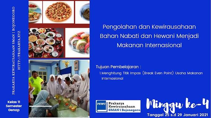 [Kelas 11 - Semester Genap] Pengolahan dan Kewirausahaan Bahan Nabati dan Hewani Menjadi Makanan Internasional