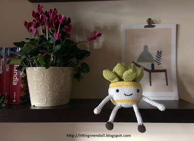 Amigurumi crochet suculenta succulent Lalalatoys DMC