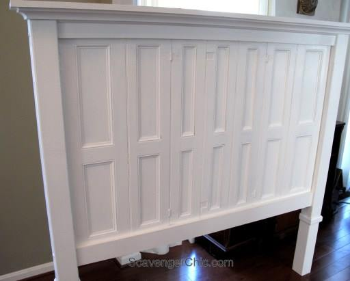 how to build a headboard with old shutters