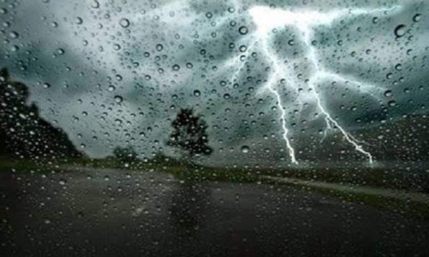 Έκτακτο δελτίο επιδείνωσης του καιρού με βροχές, καταιγίδες και χαλάζι