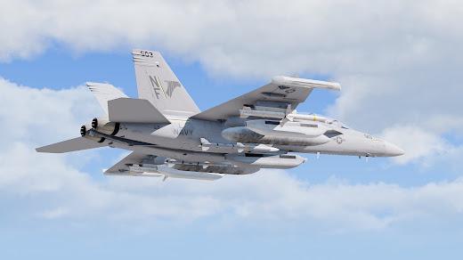 Arma3用電子戦闘機のEA-18G Growler MOD