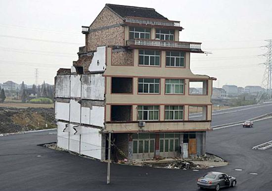Construções no meio do caminho na China - Casa em Zhejiang