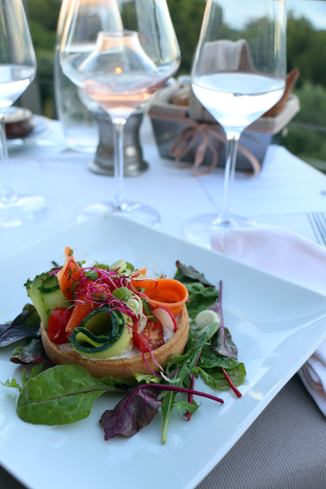 Gemüsetarte im Restaurant Le Provencal, Giens