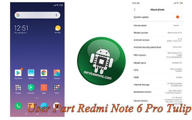 User Partition Redmi Note 6 PRO(Tulip)-Backup UFI BOX