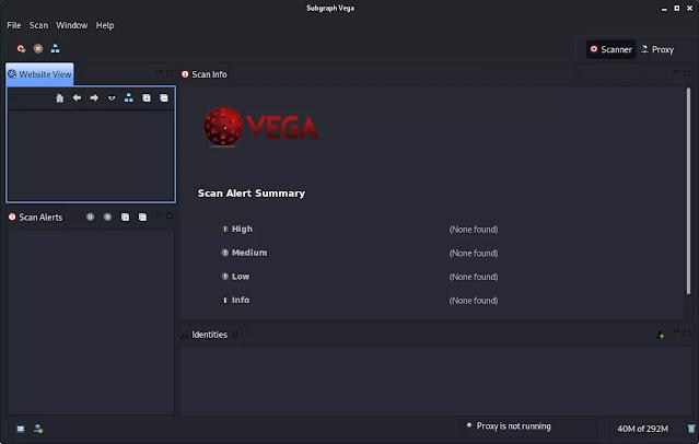 vega installed in Kali Linux 2020