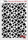 Stencil/Mask met diverse vierkanten. Stencil/Mask with various squares