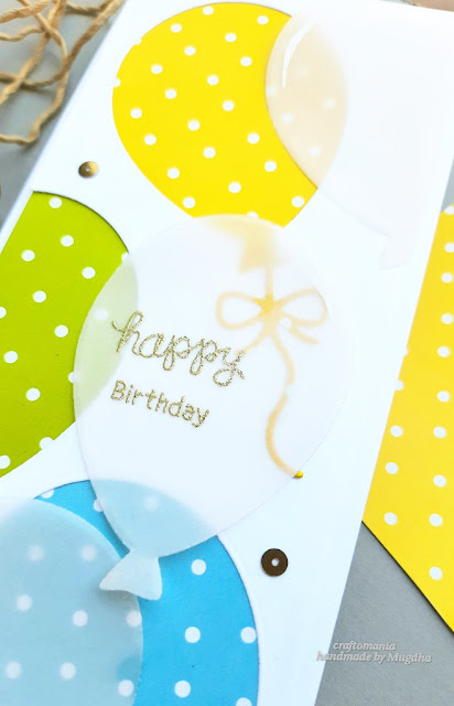 Birthday Card by April Guest Designer Mugdha Gujarathi | Balloon Shaker Die Set by Newton's Nook Designs #newtonsnook #handmade