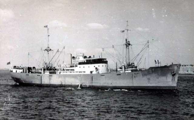 Norwegian freighter Leif, sunk on 28 February 1942 worldwartwo.filminspector.com
