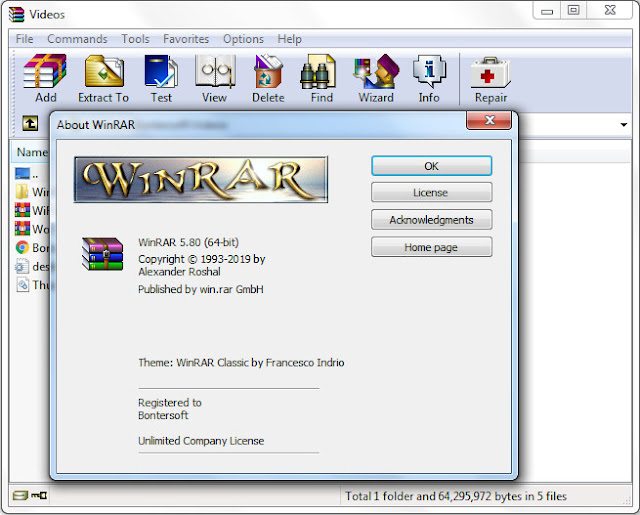 Screenshot WinRAR 5.80 Full Version