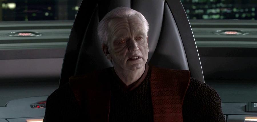 Împăratul Palpatine în Star Wars: Revenge Of The Sith