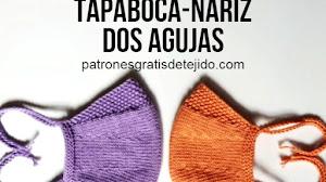 Tapabocas-nariz tejido en dos agujas | Tutorial en Video