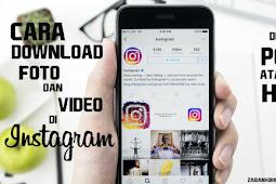 Cara Download Foto dan Video Instagram di PC dan Hp Tanpa Aplikasi