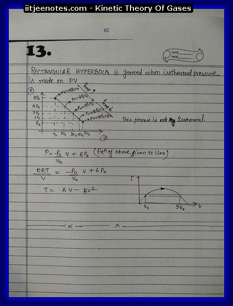 Kinetic theory of gases IITJEE Notes 3