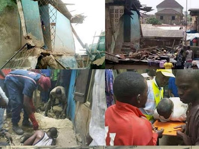 Woman, 11yrs Old Girl Killed As Building Collapses In Lagos