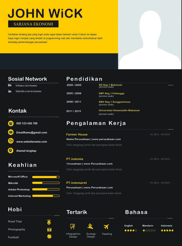 download template cv