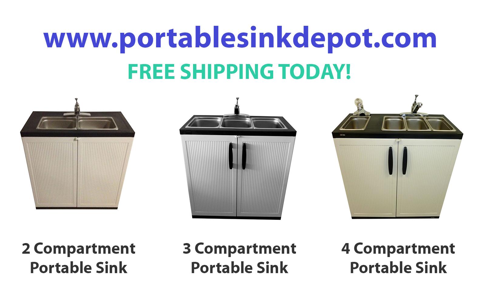 Portable 4 Compartment Sink.Portable Compartment Sink Depot