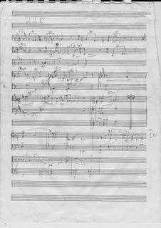Adrian Sutton - scrap of manuscript sketch for the original score of War Horse 2007