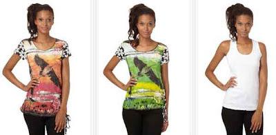 Camisetas estampadas para mujeres