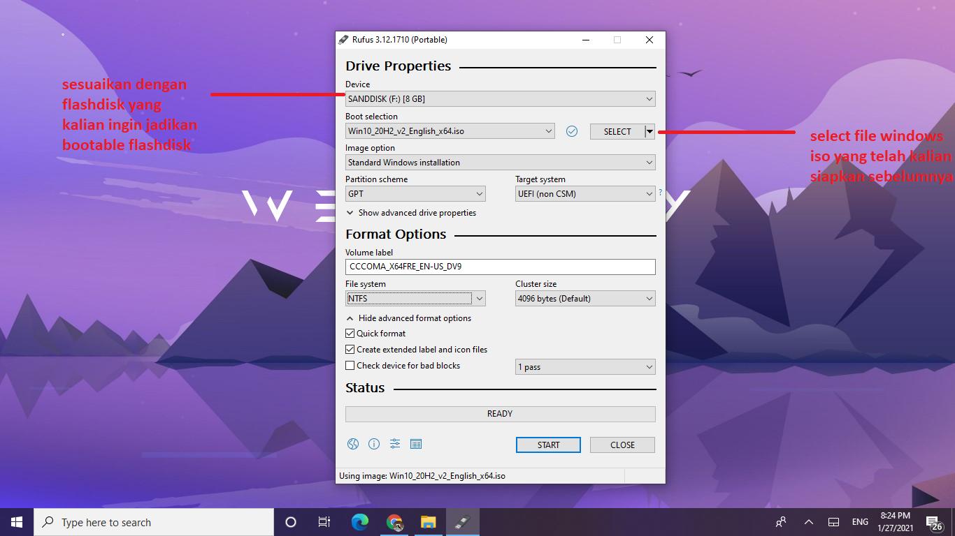 membuat windows bootable flashdisk