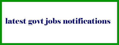 latest govt jobs notifications