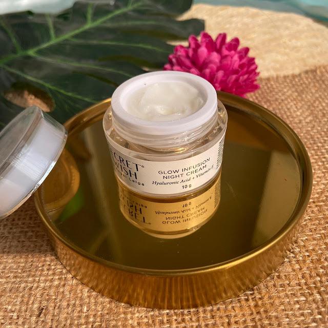 Night Cream Secret Wish Glow Infusion Skincare by Angel Lelga