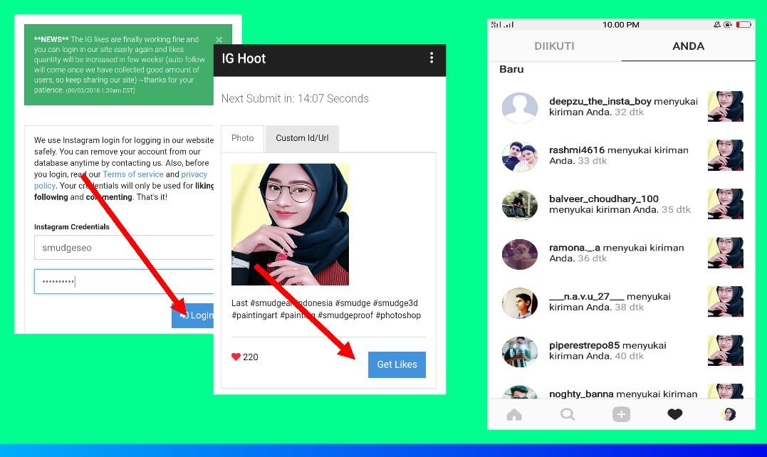Instal Aplikasi Free Liker Instagram IG Hoot APK 2018